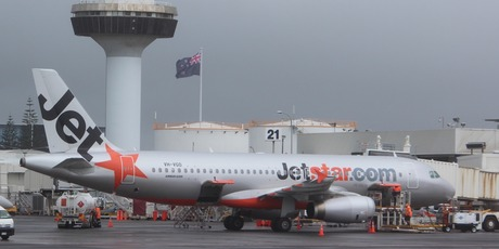 Jetstar A320 at Auckland Airport. Photo / Grant Bradley