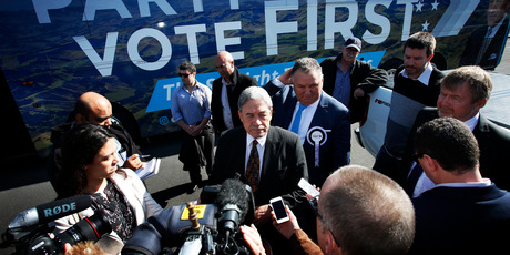 nston Peters lost his electoral seat but could  have the role of king-maker in post-election negotiations. Photo / NZME