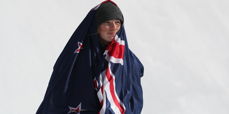 i Sadowski-Synnott in New Zealand's first Winter Olympics medallist in 26 years. Photo / Getty Images.