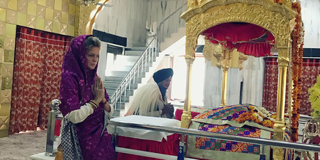 del Rachel Hunter took the opportunity to do some sightseeing in India when she missed her flight. Photo / Facebook