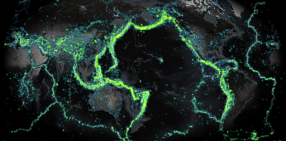 Map Of Global Quakes