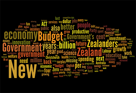 Budget 2012 Word Cloud