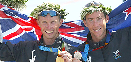 No. 5, Hearts race in triathlon one two finish